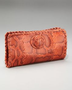 Python Turn-Lock Clutch by Bottega Veneta at Neiman Marcus.