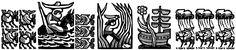 Honderd jaar eenzaamheid, linoleumsnede, Tafereel 5 – Waarin de mannen op bevel van José Arcadio een expeditie door de onherbergzame omgeving van Macondo ondernemen en midden in het oerwoud in de wirwar van varens en palmbomen een enorm Spaans galjoen ontdekken. http://www.kafak.nl/05-het-spaans-galjoen.html
