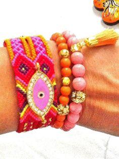 SALEARM CANDY  bohemian bracelet  gypsy bracelet evil by Nezihe1, $29.99