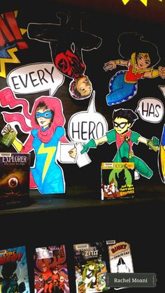Every Hero Has a Story. SRP library display 2015