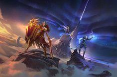 Pantheon League Of Legends, Leona League Of Legends, Champion System, Ahri League, 8k Wallpaper, Video Game Characters, Video Game Art, Memes, Diana
