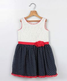 Take a look at this White Georgette Lace Babydoll Dress - Infant, Toddler & Girls on zulily today!