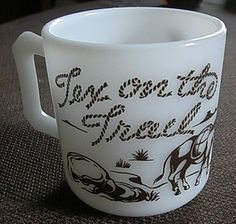 Tex on The Trail Mug - Hazel Atlas