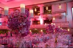 The Waldorf-Astoria's grand ballroom was all pink.  – in The Dream Ball Colors Itself Positively Pink