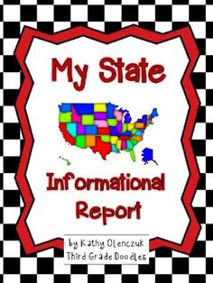 Fun research report about ANY state!  Includes outline maps for all fifty states!
