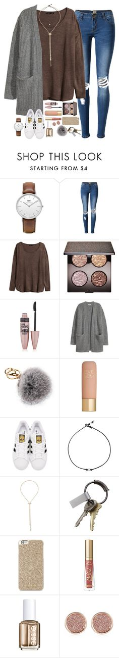 """merry christmas eve eve"" by sdyerrtx ❤ liked on Polyvore featuring Daniel Wellington, H&M, Laura Mercier, Maybelline, Kofta, Eve Lom, adidas Originals, Kendra Scott, CB2 and Michael Kors"