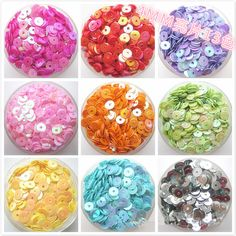 1000pcs DIY Handmade Colored Sequins 4mm Silver-based Color PVC Round Cup Loose Sequins Paillettes Sewing Sequin Wedding Decorat