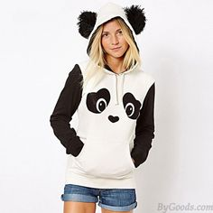 Winter Cute Hairball Panda Animals Hoodies Thicken Fleece Sweatshirts only $25.99 in ByGoods.com!