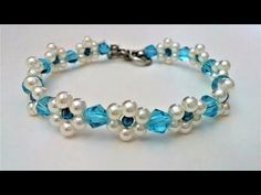 Easy DIY bracelet project. How to make bracelets with beads(pearl beads, seed beads) - YouTube