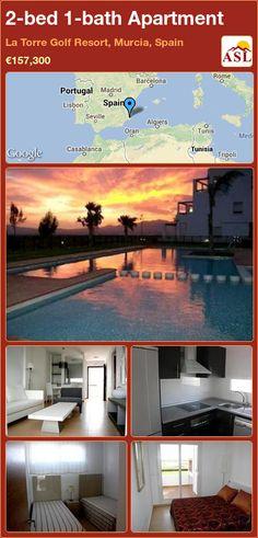 2-bed 1-bath Apartment in La Torre Golf Resort, Murcia, Spain ►€157,300 #PropertyForSaleInSpain