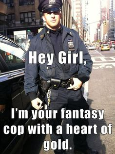 Cop and blonde hunk