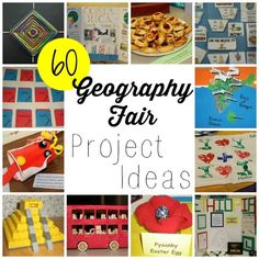 Fun geography fair project ideas- would be great for a co-op class.