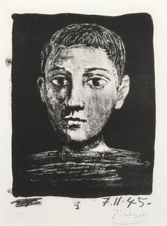 Head of a Young Boy - Picasso ||| (*d*)