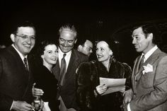 David O. Selznick, Vivien Leigh, Victor Fleming, Carole Lombard and Clark Gable at the wrap party for Gone With the Wind.