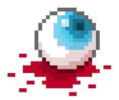 pixel blood - i like how the blood is shaded Easy Pixel Art, Pixel Art Grid, Diy Perler Beads, Perler Bead Art, 8 Bit Art, Pixel Art Templates, Pixel Pattern, Minecraft Pixel Art, Fuse Beads