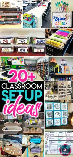 Inspiring and unique classroom setup ideas for middle and high school. Incorporate classroom decor, fun seating options, and purposeful organization. 20 plus helpful ideas for secondary classroom setup, organization, and decoration Ela Classroom, Middle School Classroom, Classroom Organisation, Special Education Classroom, Teacher Organization, Classroom Design, Classroom Management, Classroom Ideas, Future Classroom