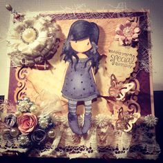 A gorguss girl stamp vintage card designs by creativewayz