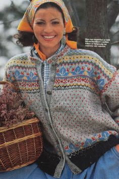 Ravelry: Favorittkofte fra Hjemmet 1993 pattern by Kari Ødegaard Etnic Pattern, Clothing Patterns, Knitting Patterns, Norwegian Style, Norwegian Knitting, Cardigan Design, Hand Knitted Sweaters, Knitting Sweaters, Knitting Stiches