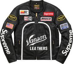 5d771b0748af40 Supreme Vanson - Leather Star Jacket Closet Staples