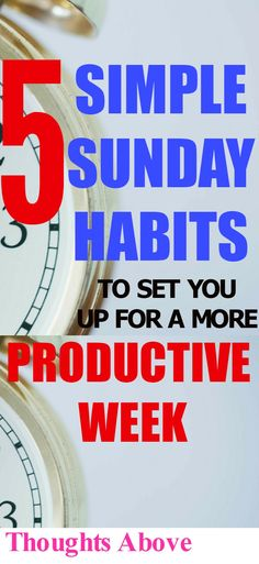 How to have a more Productive week, Improve your life, Self Improvement /Personal Growth/ Self care/ How to be productive,