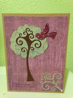 Thank you card made by Jennifer Wagner using Cricut Straight from the Nest cartridge