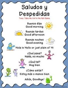 FREE for back to school!  Spanish greeting song to teach the first day of class!