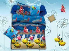 Carton Bed Sheet Kids cartoon glace cotton bedsheet