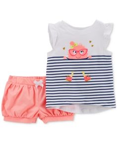 6161568b6 Carter's 2-Pc. Graphic-Print Shirt & Shorts Set, Baby Girls & Reviews - Sets  & Outfits - Kids - Macy's