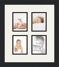 ArtToFrames Collage Photo Frame Double Mat with 4 - 4x5 Openings and Satin Black Frame. >>> Find out more about the great product at the image link.