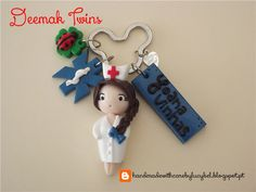 Porta chaves enfermeira INEM. Neurose Keychain. 100% handmade.