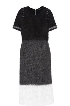Calvin Klein Collection Alessia wool and mohair-blend midi dress | NET-A-PORTER
