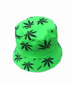 Hand Made Cannabis Leaf Buck Hat - Light Green 50 g 35 cm x 21 cm Cotton Reversible Choice of inner fabric Lightweight Washable Hand Made Leaf Design, Leaves, Hats, Green, Fabric, Cotton, Handmade, Tejido, Tela