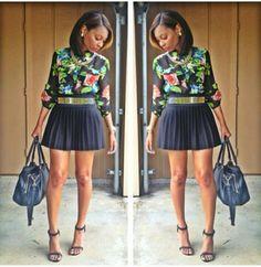 LOVE this look!!!! Date a Black Beauty: http://www.blackwhitepassion.com #blackwomen #beauy #dating