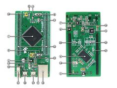Waveshare XCore407I STM32 STM32F407IGT6 Cortex-M4 Core Board with IO Expander 2 USB Ethernet 1G Bit NandFlash
