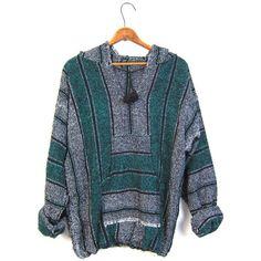 Drug Rug Hoodie Jacket Grey Green Mexican Sweatshirt Hippie Boho... (145 BRL) ❤ liked on Polyvore featuring tops, hoodies, pullover hoodie sweatshirt, grey pullover hoodie, pullover sweatshirts, hooded sweat shirt and grey sweatshirt