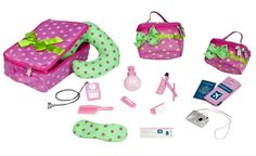 """Amazon.com: Our Generation Luggage And Travel Set For 18"""" Dolls: Toys & Games"""