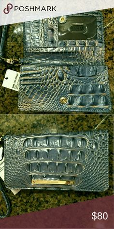 brand new Debra Satellite Melbourne WALLET Genuine Leather Brahmin Accessories