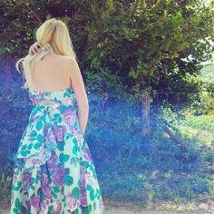 80s vintage floral party dress , 100%cotton , size s-m €38,00 new!!!