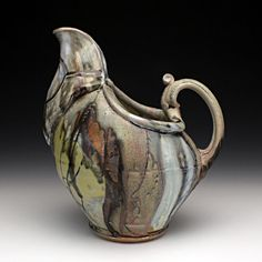 Josh DeWeese - glaze, so-so but the form is WOW Ceramic Pitcher, Ceramic Cups, Ceramic Art, Ceramic Teapots, Roseville Pottery, Ceramic Pottery, Slab Pottery, Pottery Vase, Clay Center