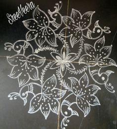 Sreelakshmi's rangoli Colorful Rangoli Designs, Rangoli Designs Images, Beautiful Rangoli Designs, Peacock Rangoli, Special Rangoli, Muggulu Design, Simple Rangoli, Unique Weddings, Festivals