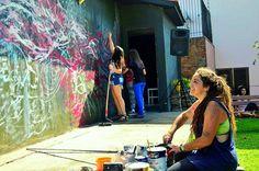 'Processoas' . Pintura Coletiva ao vivo, mais de 15 pessoas juntando! Espaço: Tem Gente Teatrando, Bruna Rizzotto, Movimento CORagente. Caxias do Sul - RS - 2015.