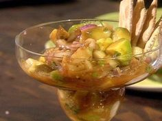 The Spaniard's Cocktail of Shrimp Recipe courtesy Guy Fieri Mexican Shrimp Cocktail, Mexican Shrimp Recipes, Chicken Wing Recipes, Appetizer Dips, Appetizer Recipes, Potluck Recipes, Guy's Big Bite, Bobby Flay Recipes, Recipe Cover