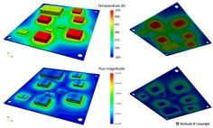 This project shows the transient thermal analysis of chips mounted on a printed circuit board (PCB).