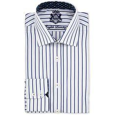 0ba5efbc5492d English Laundry Striped Cotton Dress Shirt ( 52) ❤ liked on Polyvore  featuring men s fashion