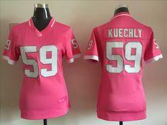 Womens Carolina Panthers 59 Luke Kuechly 2015 Pink Bubble Gum Nike Jersey