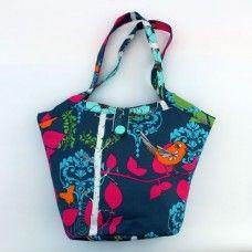 The Birdie Shoulder Bag - Indigo / Turquoise