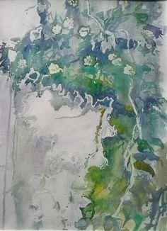 Ivy, watercolor, 2016