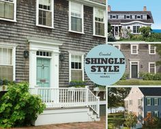 For that instant coastal cottage look,  I love the look of cedar shingles.  Their texture and rustic quality can be the beginning of great curb appeal. This fun shingle style has several distinct elements...