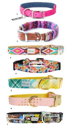 10 Colourful + Cute Dog Collars Your Pup Will Love | Pretty Fluffy
