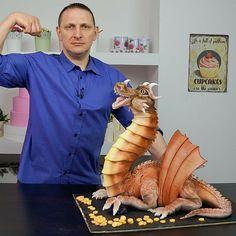 fire blowing dragon cake tutorial